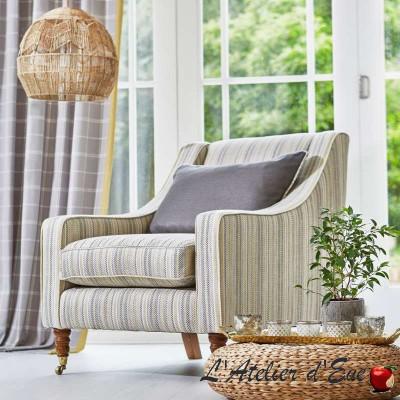 """Huntington"" pastel Tissu ameublement chevrons Hamptons Prestigious Textiles"