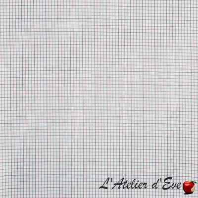 """Brunswick"" pastel Tissu ameublement coton carreaux Hamptons Prestigious Textiles"