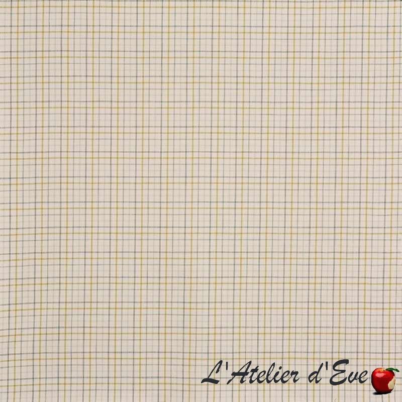 """Brunswick"" jade Tissu ameublement coton carreaux Hamptons Prestigious Textiles"