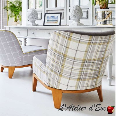 """Washington"" jade Tissu ameublement écossais Hamptons Prestigious Textiles"