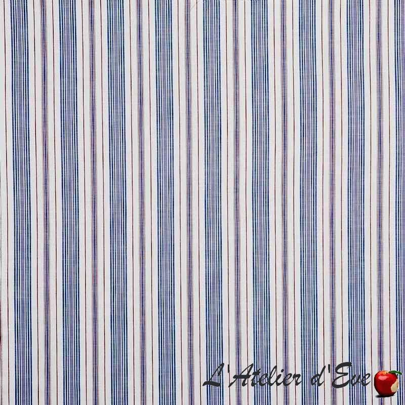 """Ridgewood"" marina Tissu ameublement coton rayures Hamptons Prestigious Textiles"