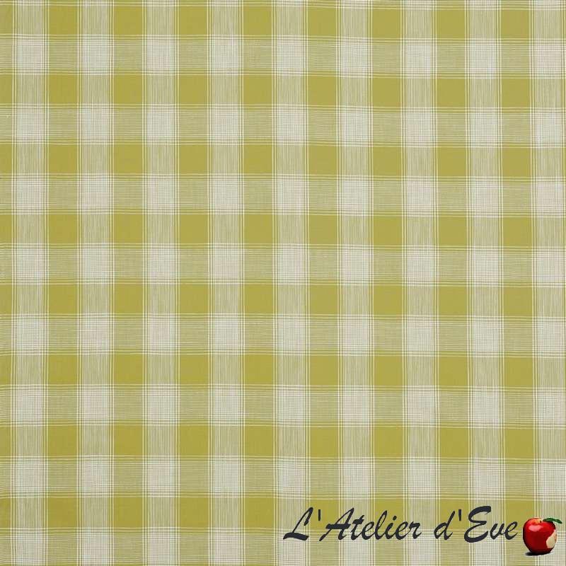 """Portland"" citron Tissu ameublement coton carreaux Hamptons Prestigious Textiles"