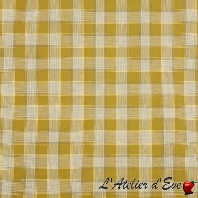 """Portland"" mimosa Tissu ameublement coton carreaux Hamptons Prestigious Textiles"