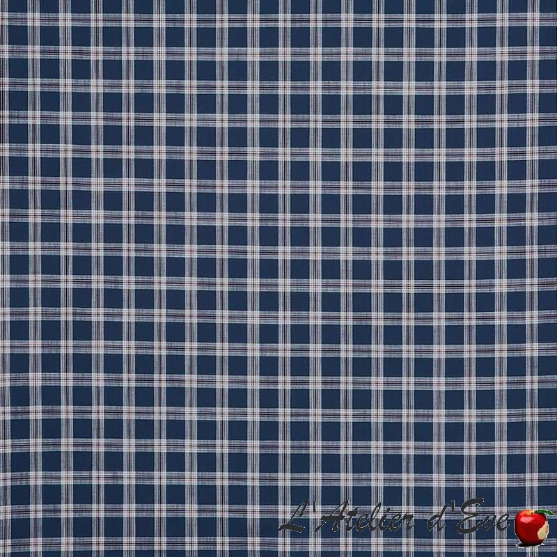 """Brunswick"" Hamptons Prestigious Textiles check cotton fabric"