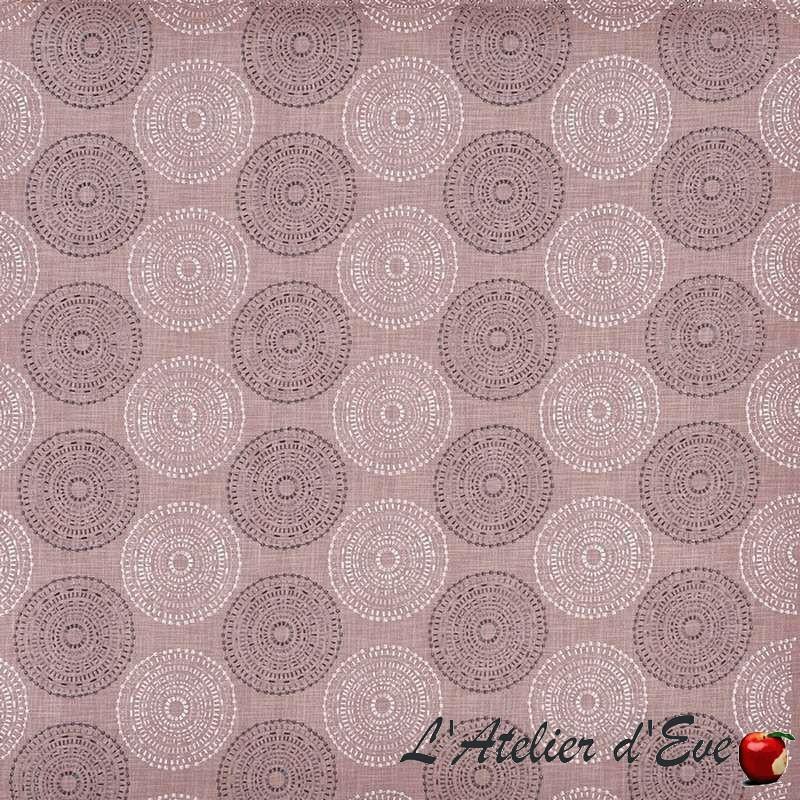 """Hémisphère"" wisteria Tissu ameublement brodé Luna Prestigious Textiles"