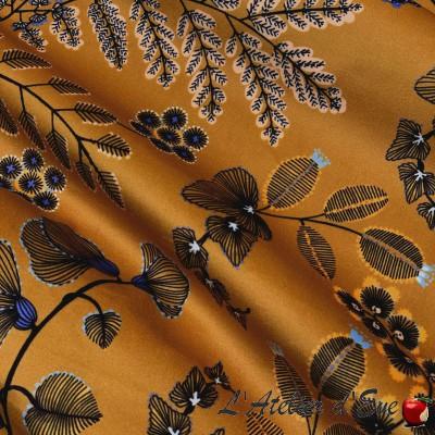"""Phoenix"" Thevenon floral coated fabric"