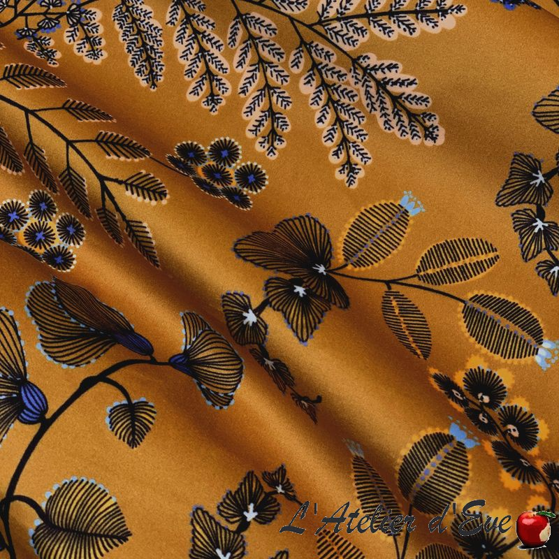 """Phoenix"" Tissu enduit jaune Thevenon"