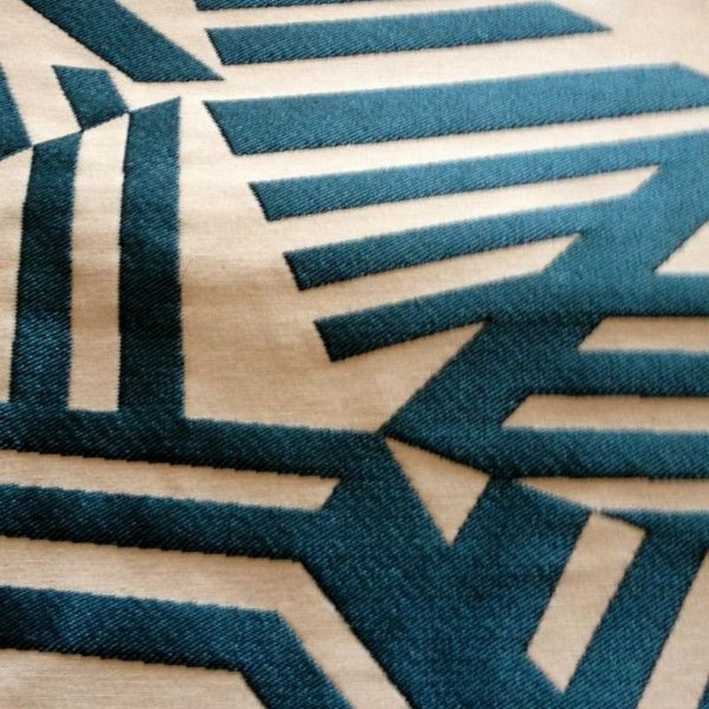 Tissu bleu ameublement, siège et tenture Arkane Thevenon Paris