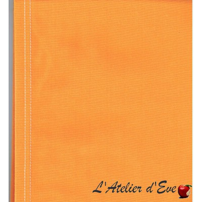 """Toile transat"" coupon L.43cmx 100cm coton unie jaune"