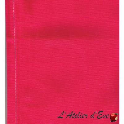 """Toile transat"" coupon L.43cmx 175cm coton unie fushia"