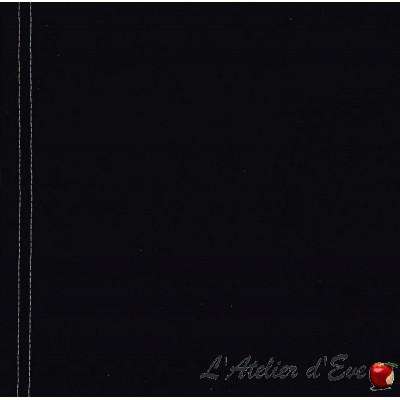 """""""Toile transat"""" coupon L.43cmx 260cm coton uni noir"""