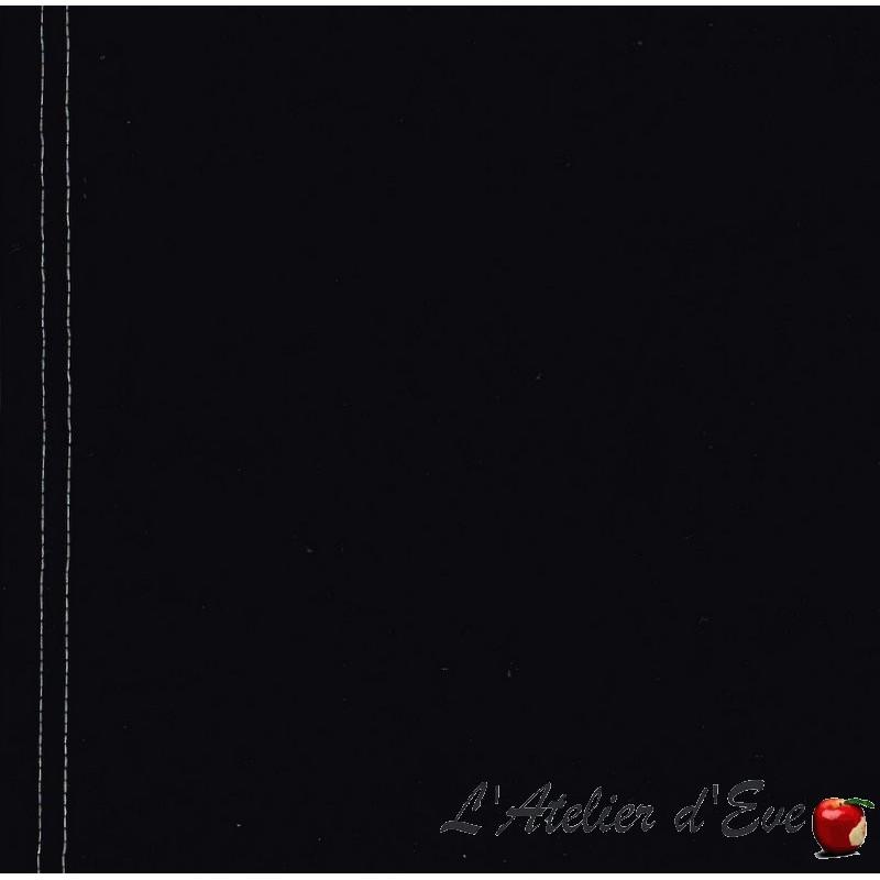 """""""Toile transat"""" noire coupon L.43cmx 260cm coton uni noir"""