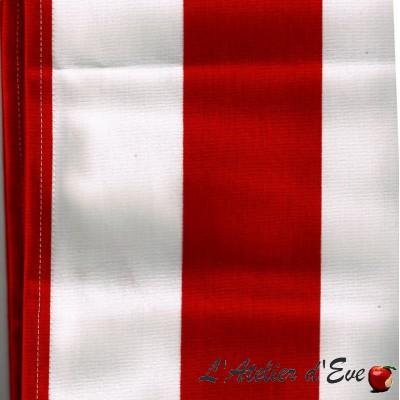 """Toile transat"" coupon L.43cmx 92cm coton rayures"