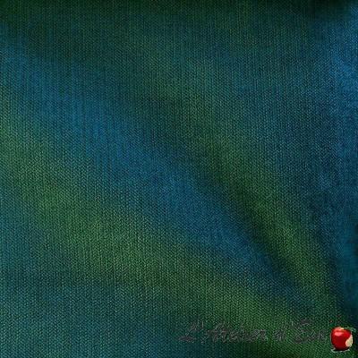 """Douceur "" bleu canard Coupon 45x140cm tissu ameublement Thevenon"