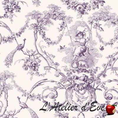 """""""Ludivine"""" Coupon 64x280cm toile de jouy furnishing Thevenon"""