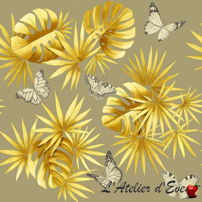 """""""Butterfly Island"""" Coupon Fabric Furnishing Thevenon"""