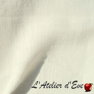 """""""Washed linen"""" Pearl Coupon 140x240cm fabric furniture Thévenon"""