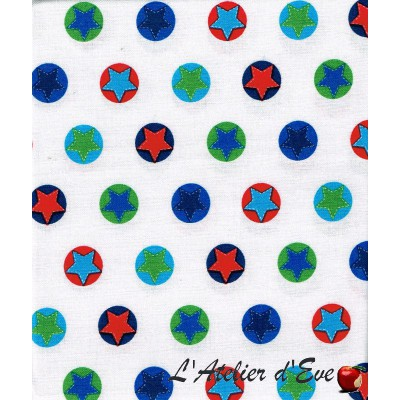 """""""Coton américain"""" coupon 70x110cm patchwork, habillement, loisirs créatifs...22798z"""