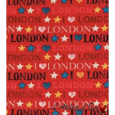 """""""Coton américain"""" coupon 50x110cm patchwork, habillement, loisirs créatifs...985r"""
