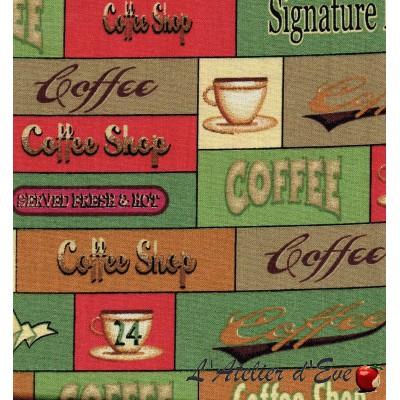 """""""Coton américain"""" coupon 50x110cm patchwork, loisirs créatifs...74270g"""