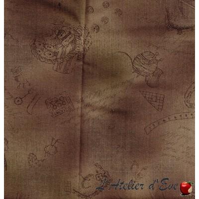 """""""Coton américain"""" coupon 120x110cm patchwork, loisirs créatifs...70-59e"""