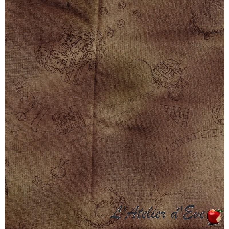 """""""Coton américain"""" coupon 120x110cm patchwork, habillement, loisirs créatifs...70-59e"""