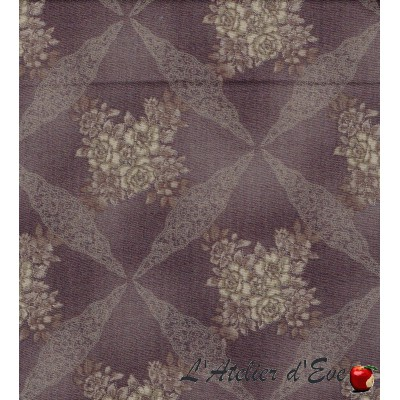 """""""Coton américain"""" coupon 80x110cm patchwork, loisirs créatifs...5901-16f"""
