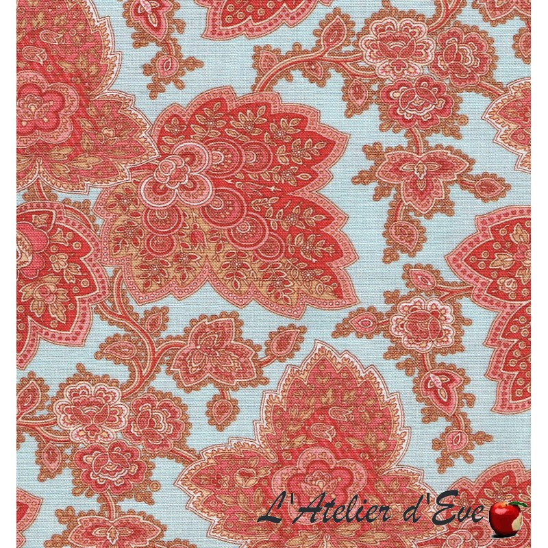 """""""Coton américain"""" coupon 50x110cm patchwork, habillement, loisirs créatifs...44005-15"""