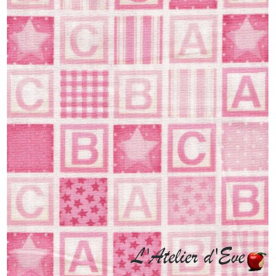 """""""Coton américain"""" coupon 50x110cm patchwork, loisirs créatifs...911p"""