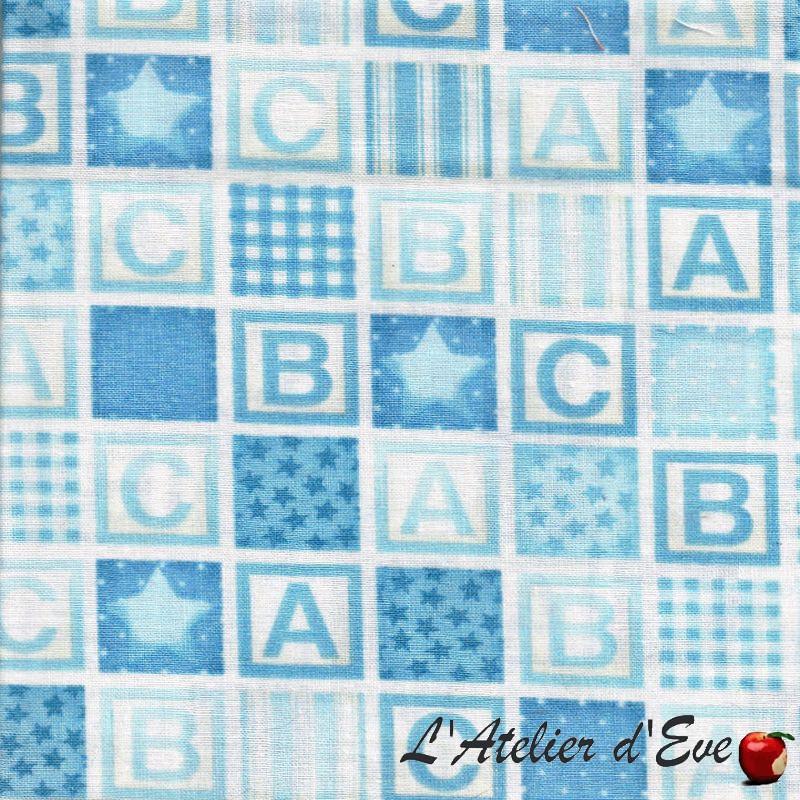 """""""Coton américain"""" coupon 45x45cm fat quater patchwork, habillement, loisirs créatifs...911b"""