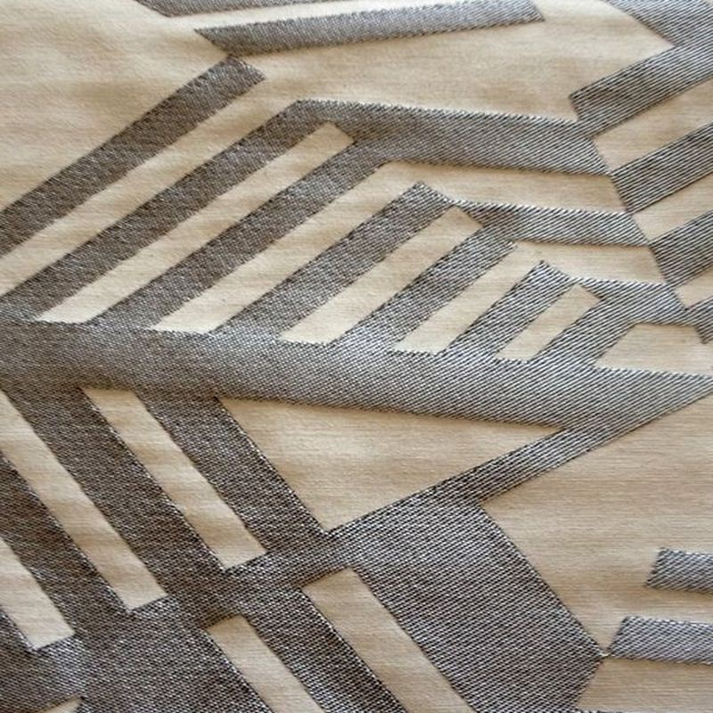 Arkane - Tissu ameublement jacquard gris/blanc