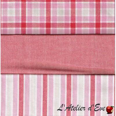 """""""Coton américain"""" 3 coupons 37.5x37.5cm patchwork, loisirs créatifs...77/3"""