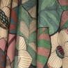 Idris Toile lin brique fleurie ameublement Thevenon