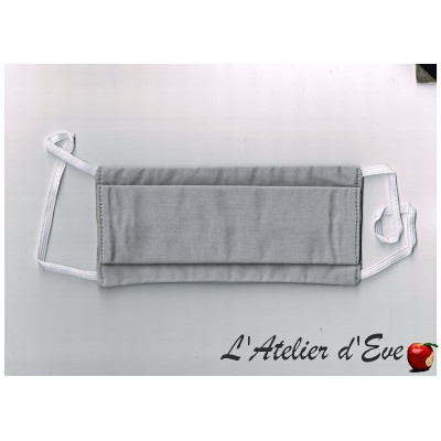 Masque de protection tissu Made in France MPT-gris
