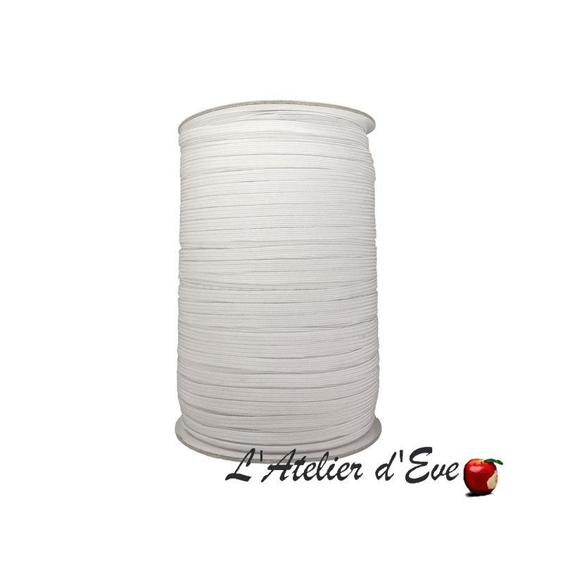 Promotion bobine 400m élastique souple blanc 5mm ME.05