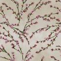 """""""Fleurs d'amandier"""" enduit Remise 30% Rouleau tissu enduit fleuri Thevenon"""