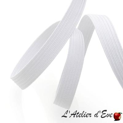 Elastique souple plat blanc largeur 7mm