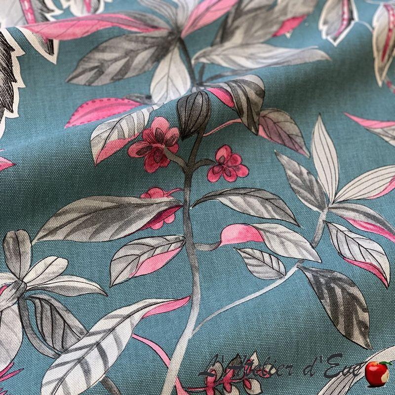 """Adelaïde"" Grossiste tissu ameublement grande largeur coton Thevenon"