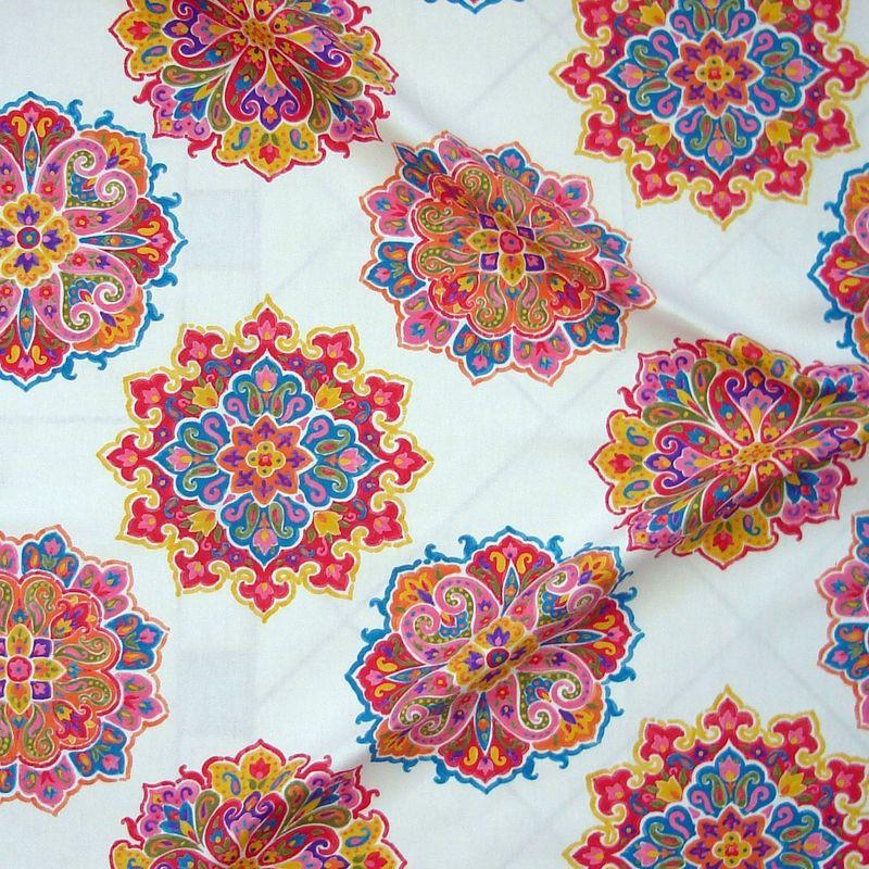 Woodstock- Tissu ameublement coton grande largeur de Thevenon