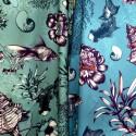 """Poetic Undersea"" Rideau coton Made in France Thevenon"