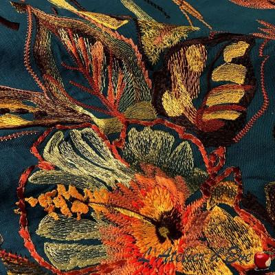 """Poetic Undersea"" Cotton fabric with Thevenon furnishings"