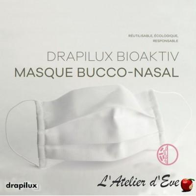10 masques de protection tissu bioaktiv blanc traitement anti-bactérien Mpt-10 drapilux