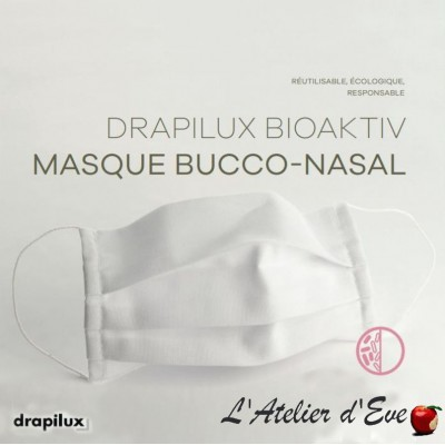 10 white bioaktiv fabric protection masks anti-bacterial treatment Mpt-10 drapilux