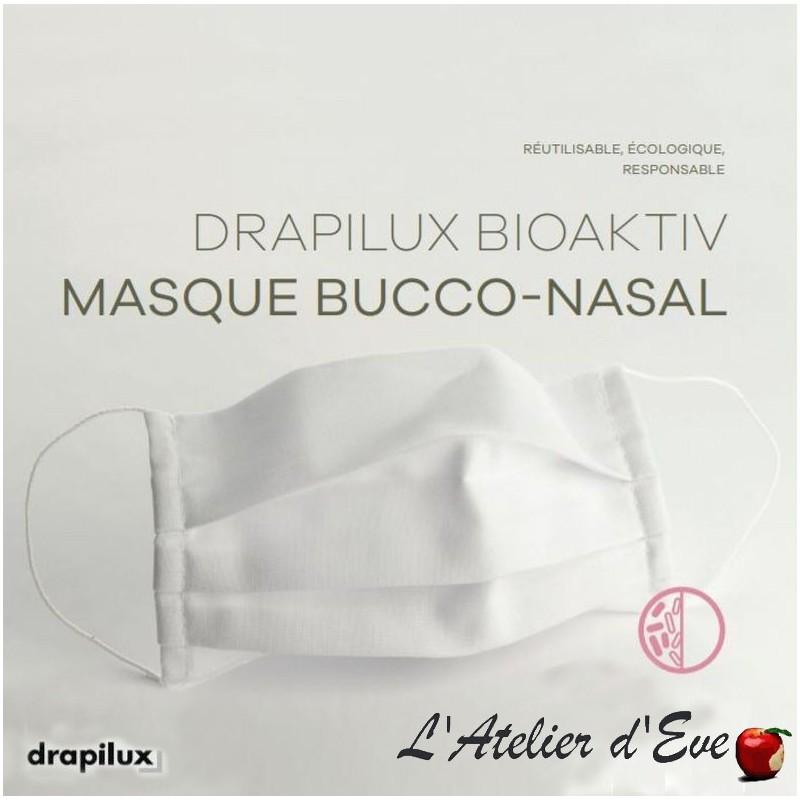 Masque de protection tissu traitement anti-bactérien blanc Mpt-drapilux