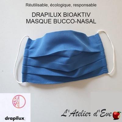 Promo 10 masques de protection tissu bioaktiv bleu Mpt-10 drapilux