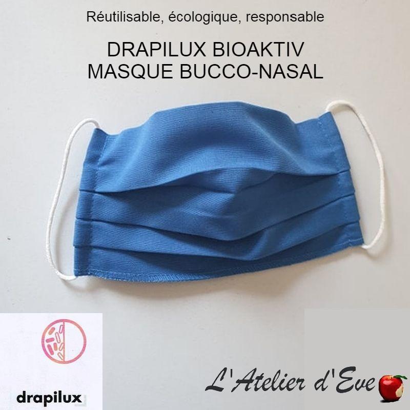 Masque de protection tissu bioaktiv bleu traitement anti-bactérien Mpt-drapilux
