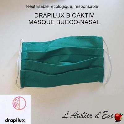 Promo 10 masques de protection tissu bioaktiv vert Mpt-10 drapilux