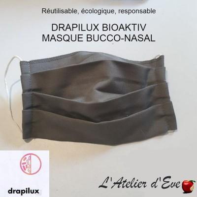 Masque de protection tissu bioaktiv gris Mpt-drapilux
