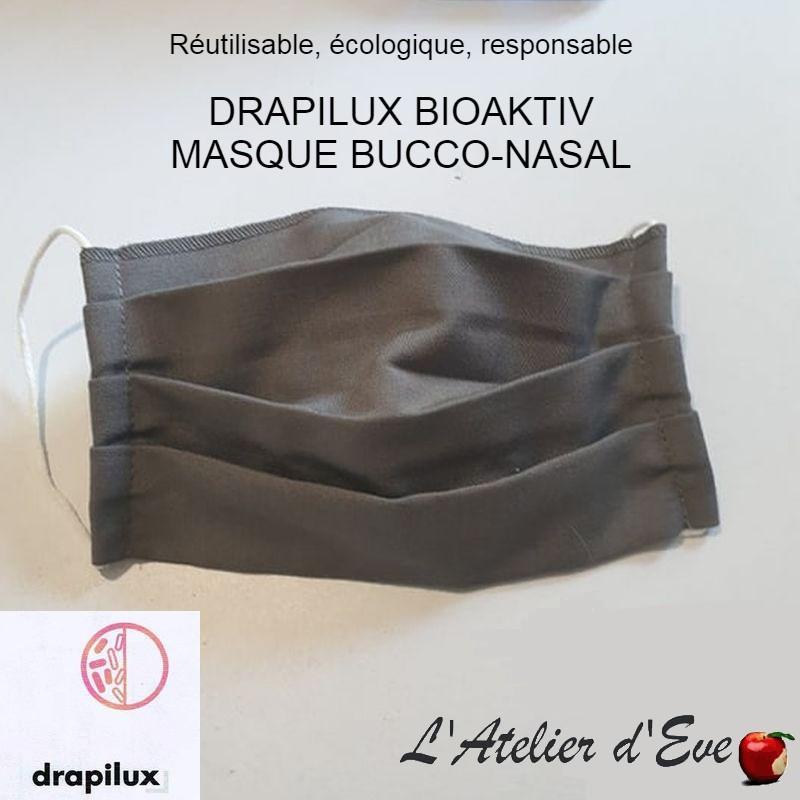 Masque de protection tissu bioaktiv traitement anti-bactérien blanc Mpt-drapilux