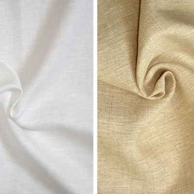 Linge de lit Toile a drap 100% lin uni grande largeur Thevenon